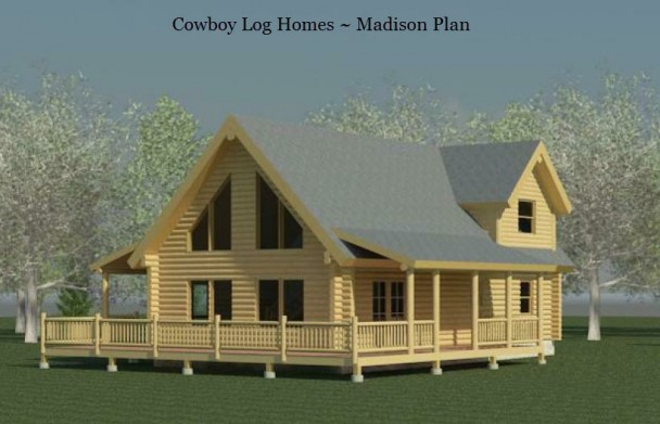 madison log home plan elevation