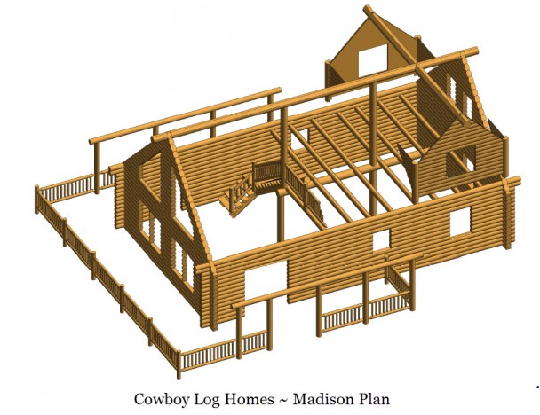 madison log home shell