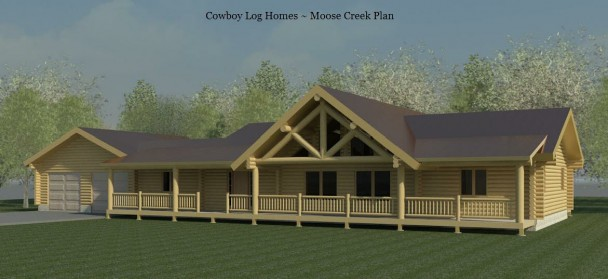 moose creek log home elevation