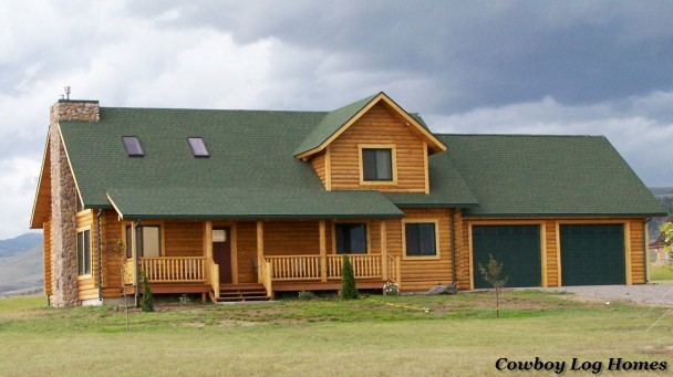 prong horn log home plans