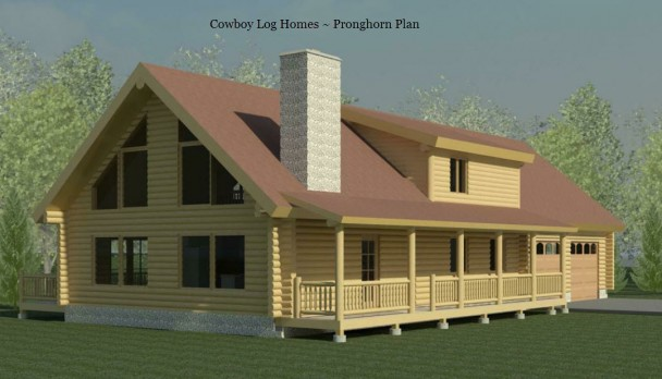 pronghorn log home elevation