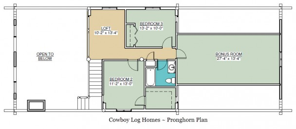 pronghorn log home plan