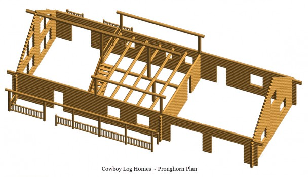 pronghorn log home shell