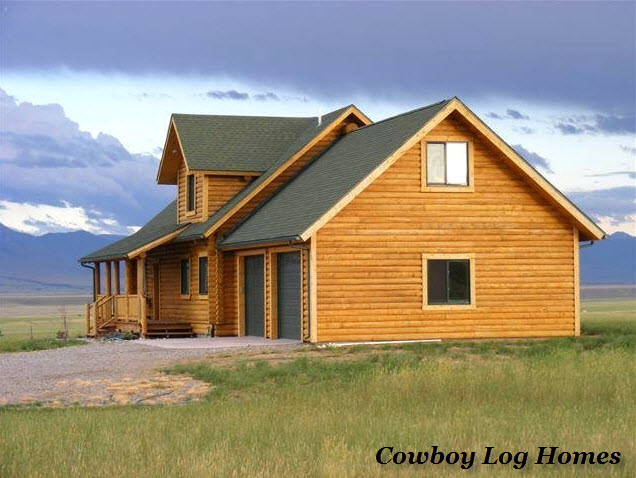 Nevada city plan 2 840 sq ft cowboy log homes for Log home plans with garage