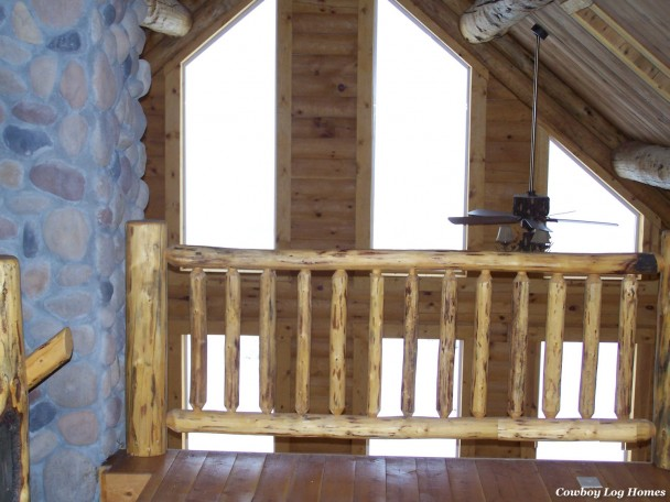 big timber log home loft