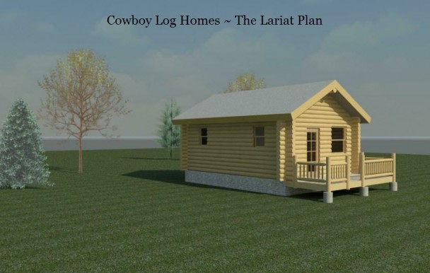 lariat log cabin elevation with background