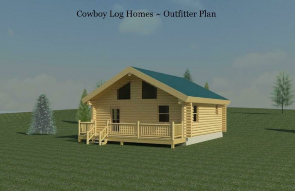 outfitter log home elevation