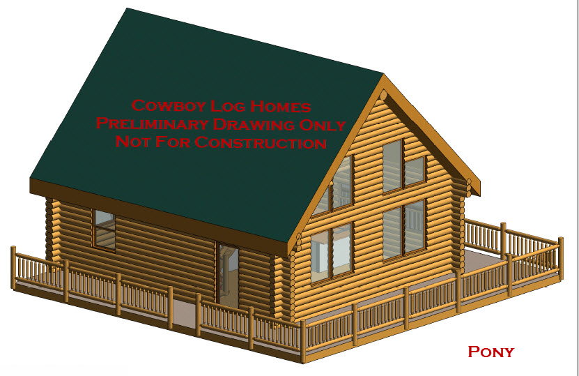 Pony Plan 996 Sq Ft Cowboy Log Homes