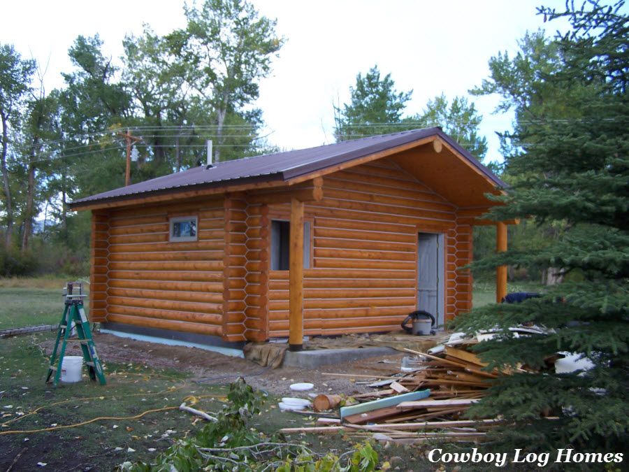 20 fresh log cabin plans small house plans 14612 for Small log cabin plans