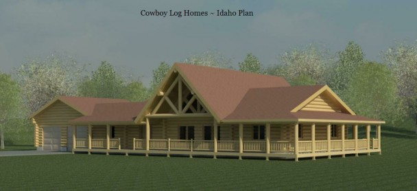 idaho log home elevation