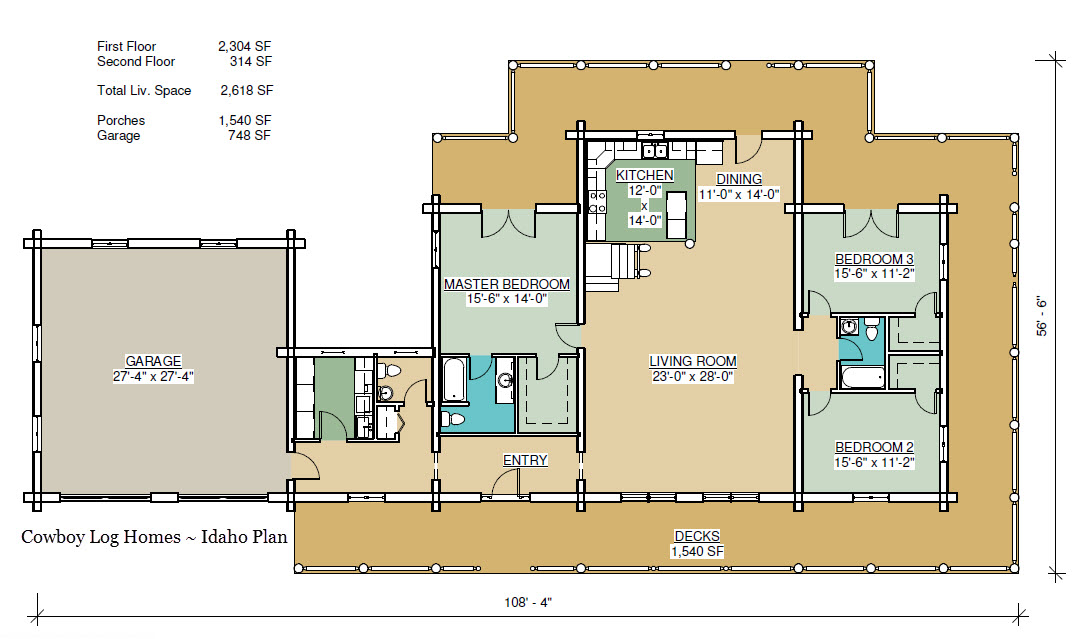 Idaho Plan 2618 Sq Ft – Idaho Home Plans