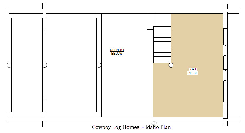 Idaho plan 2 618 sq ft cowboy log homes for Idaho house plans