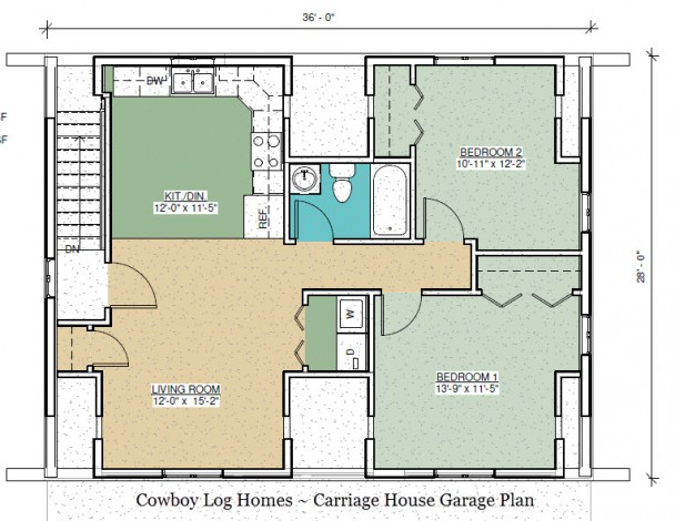 carriage house apartment plan