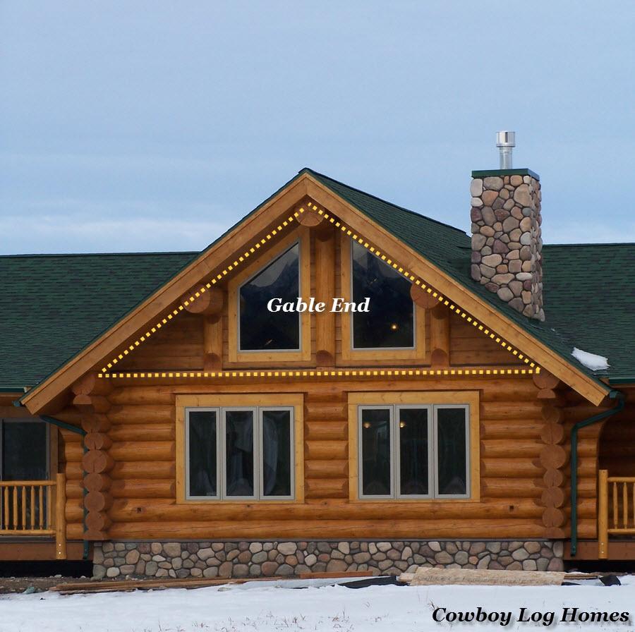 Gable End Of Log Home