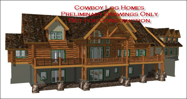 Luxury log home floor plans cowboy log homes for Luxury cabin floor plans