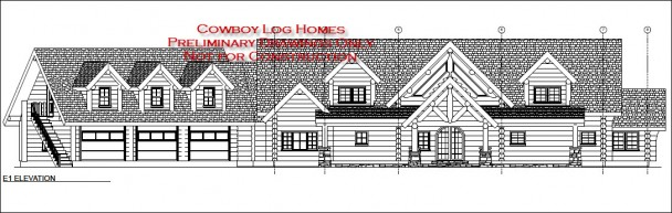 Sample Front Elevation Yourself : Luxury log home floor plans cowboy homes