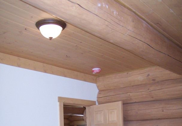 interior wood trim log homes