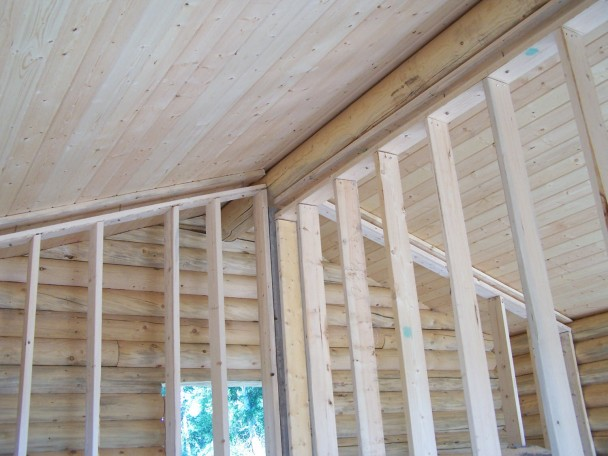 log home framing shrinkage channel