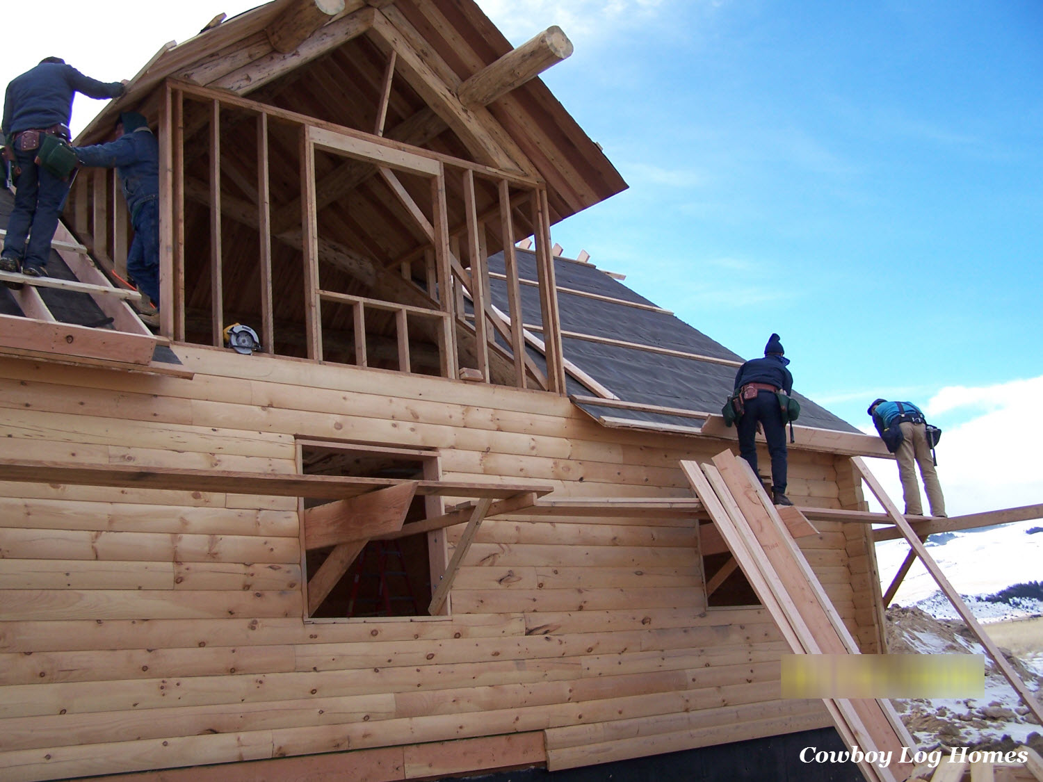 Log homes general cost estimates cowboy log homes for Cost of building a house in montana
