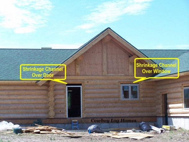 shrinkage channel over door and window