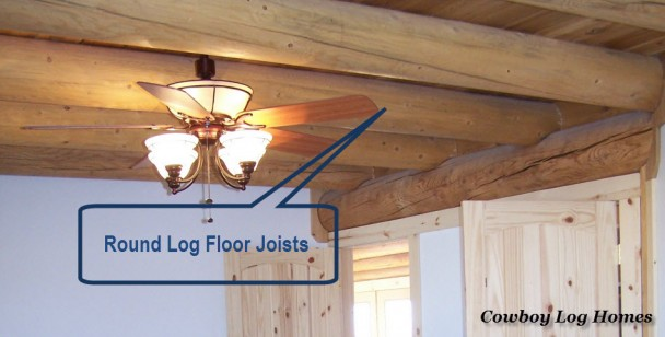 round log floor joists