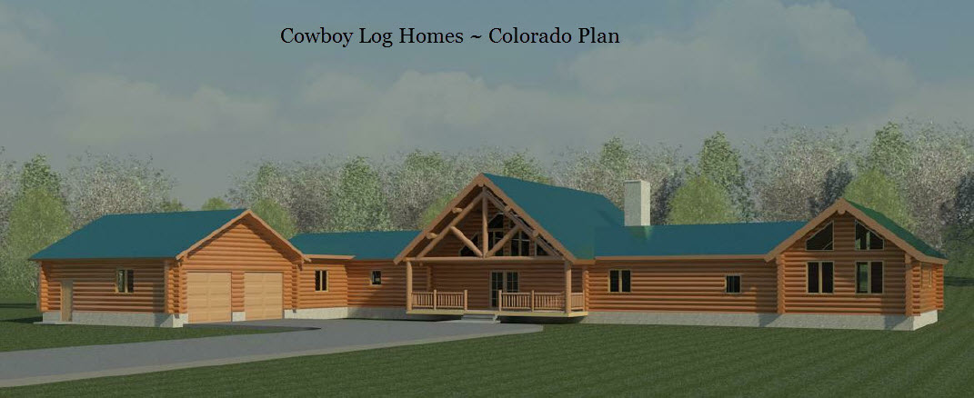 Colorado plan 4 822 sq ft cowboy log homes for Colorado log home plans