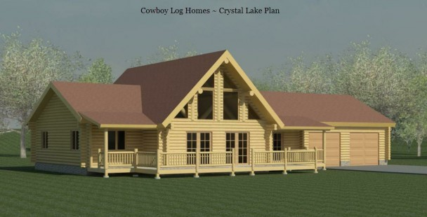crystal lake log home elevation