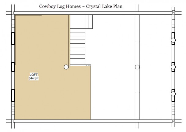 crystal lake log home loft plan