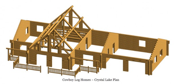 crystal lake log home shell