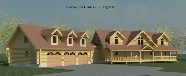 durango log home plan
