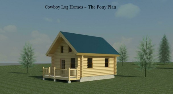 pony log home plan elevation