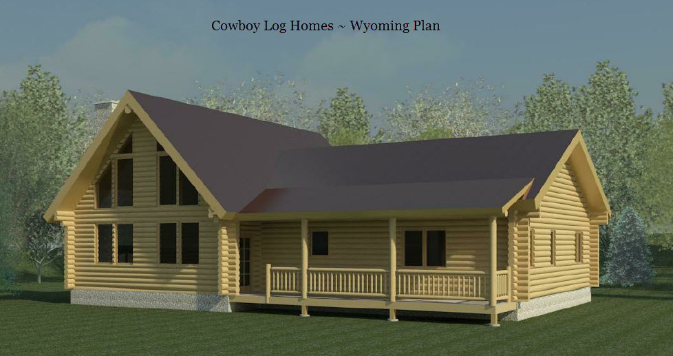 Wyoming plan 2 088 sq ft cowboy log homes Wyoming home builders