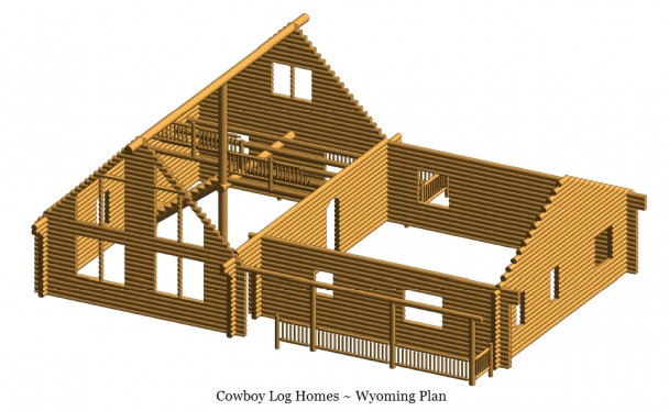 wyoming log home shell